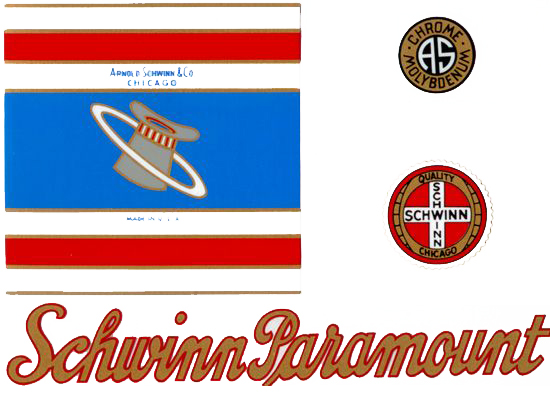 Schwinn Paramount Antique Decal Set